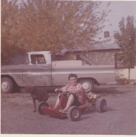 Grandma and the go-kart